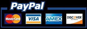 PayPal VISA MASTERCARD AMEX DISCOVERY